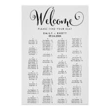Seating Chart In Alphabetical Order Southern Calligraphy Alphabetical Seating Chart