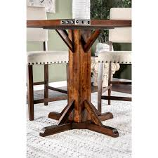 furniture of america banea rustic nailhead brown cherry counter height table cherry brown on today overstock 14334470