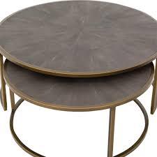 massey modern regency antique brass reen round nesting coffee table nesting coffee tables jpg