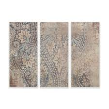 madison park weathered damask walls print on linen wall art in blue set of 3 on wall art set of 3 bathroom with buy set of 3 wall art from bed bath beyond