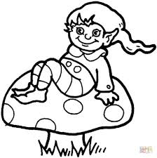 cute mushroom coloring pages 1