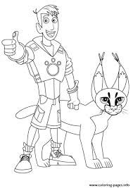 Small Picture Wild Kratts Martin And Cougar Coloring Pages Coloring Pages Printable