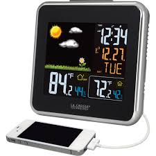 la crosse technology digital wireless weather station full color forecast