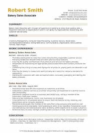 Entry Level Sales Associate Resumes Bakery Sales Associate Resume Samples Qwikresume
