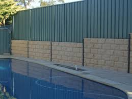 retaining walls lonsdale concrete sleeper lonsdale