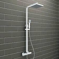 kohler rain shower rain shower elegant rain shower mixer set thermostatic valve twin head square riser