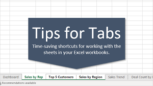 7 Shortcuts For Working With Worksheet Tabs In Excel Excel Campus