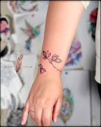 Feminine Wrist Tattoos Designs Bracelet Tattoo Design Wrist Tattoos For Women Flower