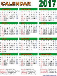 transpa 2017 calendar print