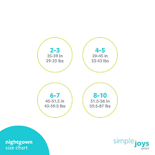 Simple Joys Carters Size Chart Simple Joys By Carters Little Girls 2 Pack Fleece Nightgowns