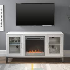 modern white fireplace tv stand
