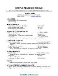 Academic Resume Template Fresh Academic Cv Example Us