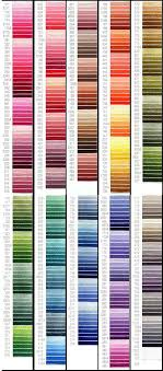 Robison Anton Color Chart Free Embroidery Thread Color Converter Free Embroidery