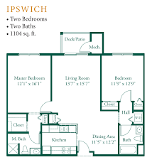 Appleton Oaks  Floor Plans - Handicap accessible bathroom floor plans