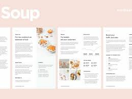 sales kit template media kit template for food blogger by web elements on dribbble