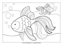Small Picture Goldfish Colouring Page