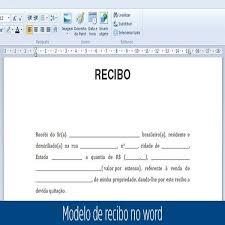 Modelo De Recibo Modelo De Recibo No Word Recibo