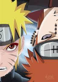 Naruto vs Pain digital fanart by @milenacecilieart on Instagram : Naruto