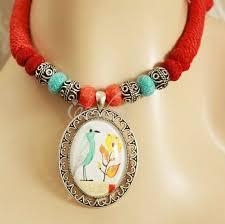 little blue bird modern pendant designer handmade necklace
