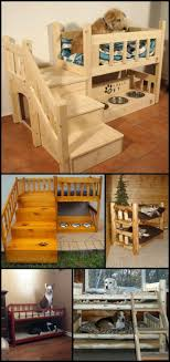 Goodness some dogs got it made.Make a DIY dog bunk bed for them!