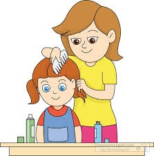 combing hair clipart.  Clipart Comb Hair Clipart Mother Combing Daughters Throughout M