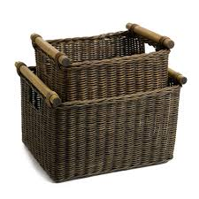Deep Wicker DVD or Paper Basket | The Basket Lady