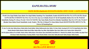 Kapil Matka How To Succeed In Online Indian Matka Games