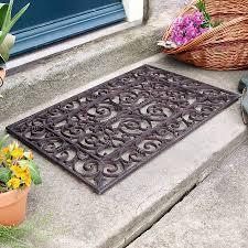 front door mats outdoortraditional rectangular outdoor cast iron doormat by dibor