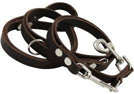 brown 6 way european multifunctional leather dog leash adjustable schutzhund lead 49 94