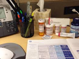 office work desk. Slide: 10 / Of 15 Caption: Infected With Giardia, Staff Infection, And Sadness At Work. Meds Cover My Desk. #saddesk \u2014 @slcityguy, October 29, Office Work Desk