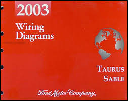 2003 ford taurus mercury sable wiring diagrams manual original