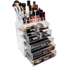 Storage Case Display Set 3 Large and 4 Small Drawer Case With Organizer Top