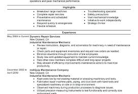 Maintenance Mechanic Resume Examples Supervisor Sample Simple Print ...