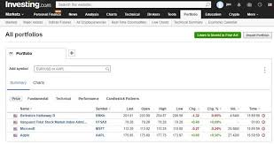 Google Finance My Portfolio Chart 6 Google Finance Portfolio Replacements Alternatives