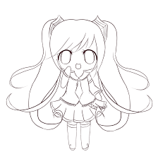 Cute Chibi Coloring Pages Anime Coloringstar