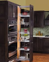 Oak Kitchen Pantry Cabinet Kitchen Pantry Ideas Creamy Oak Wood Kitchen Cabinets Metal