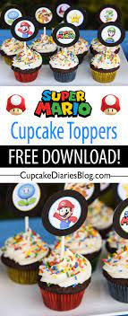 Only with super mario party supplies, you're not playing the game — you're in the game, starting with racing. Super Mario Bros Cupcakes With Free Printable Toppers