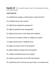 spanish iv writing prompts by rachellepoth teaching resources tes