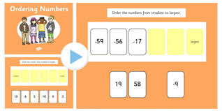 Place Value Flip Chart Promethean Ordering Numbers From Minus 100 To 100 Flipchart Order