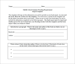 Reading Report Template Chanceinc Co