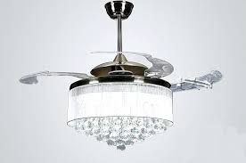 crystal ceiling fan crystal ceiling fan with retractable blades crystal ceiling fan