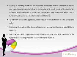 Investing In Vending Machines Simple Types Of Vending Machines