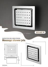 Großhandel Einzigartige Regendusche Panel Chrom Finish Platz Dusche Mischer In Wandmontage Wasserfall Wasserhahn Set Mit 3 Wege Dusche Controller
