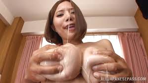 Japanese wife boob sucking