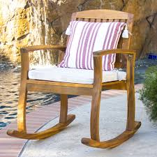 wooden rocking chair with cushion. Exellent Rocking 2018 Outdoor Patio Acacia Wood Rocking Chair W Removable Seat Cushion From  Newlife2016dh 7036  DhgateCom With Wooden C