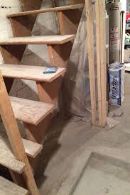 painted basement stairs. Upgrading Basement Stairs With Paint And Plywood - No Need To Rip Them  Out! Painted T