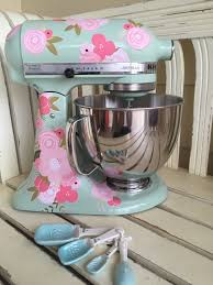 Pink Kitchen Aid Mixer Pink Poppies Kitchenaid Decals Shabby Chic Cottage Poppies And