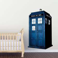 doctor who tardis kids boy girls bedroom wall decal art sticker colour gift new