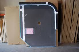 ready for tile custom shower pan for glass block enclosure radius glass block curb and