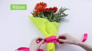 How To Wrap Flower Bouquet In Paper How To Wrap Flowers With Pictures Wikihow
